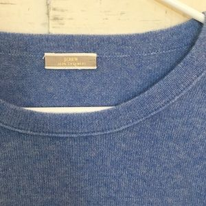 J. Crew Sweaters - J. Crew 100% Cashmere Blue Crew Neck Sweater